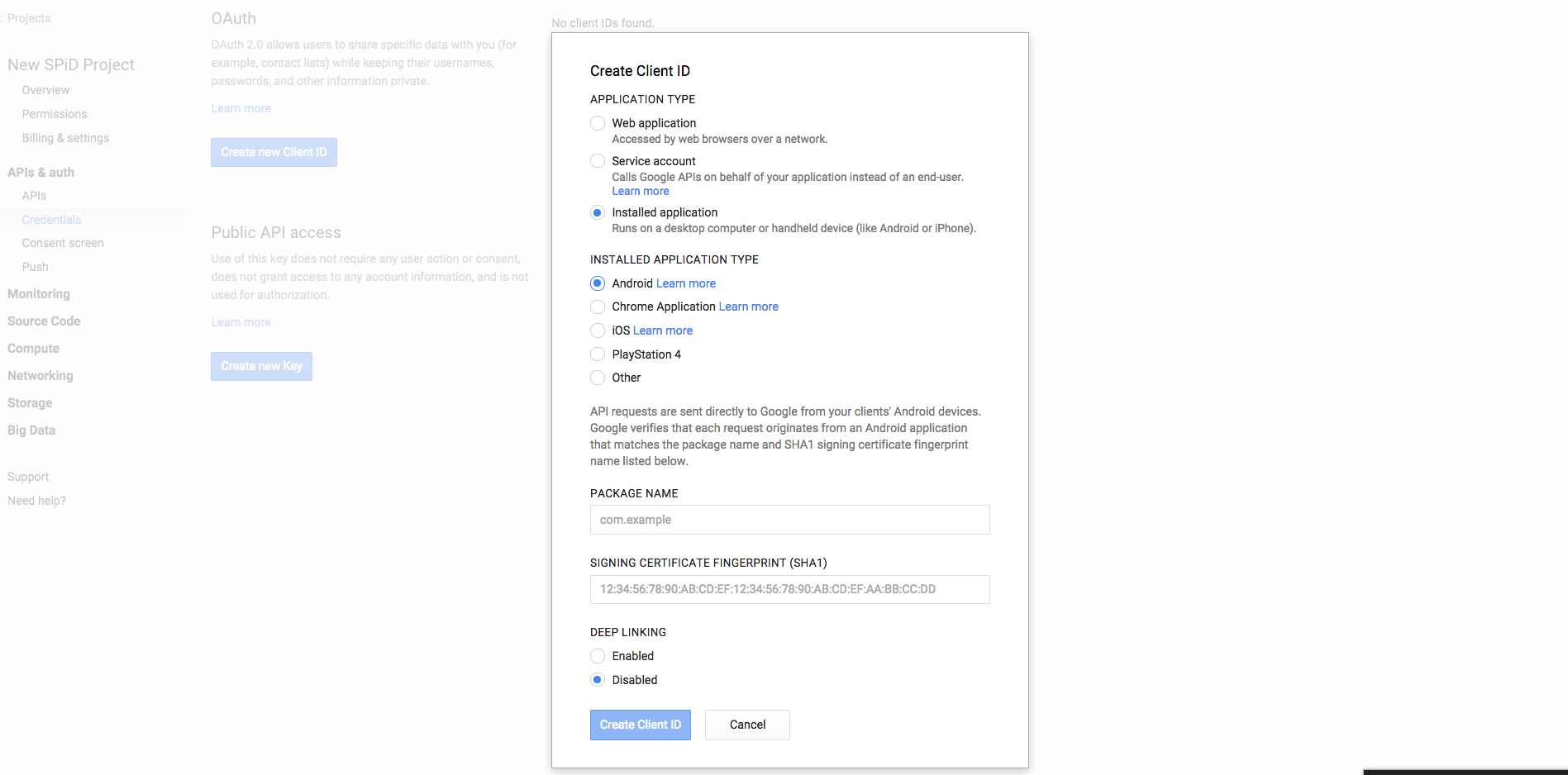 Android sample applications   SPiD API Documentation